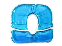 Gelkissen Pro für Kopfstützen, blau - Gesichtskissen-Auflage für Kopfstützen und Nasenschlitze - 1