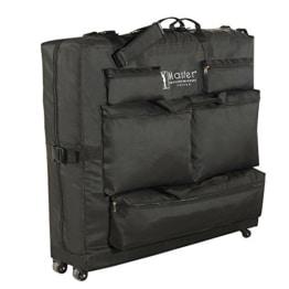 Master Massage Transporttasche für Massageliegen Nylongewebe Noch leichterer Transport Schwarz (Mit Rädern) - 1