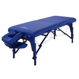 master massageliege blau