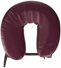 Optionale verstellbare Kopfstütze für Massage- / Therapieliegen, Behandlungsliegen, Metallhalterung, bordeauxrote Polsterung - 1