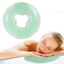Silikon Kopfkissen Weiche Massage Gesicht Entspannen Kissen Kopfstütze, SPA Beauty Salon Hautpflege Weiches Überlagerungs Gesicht entspannen Wiegen Kissen Auflage(Hellgrün) - 1
