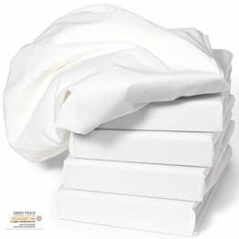 Spannbezug COMFORT für Massageliege weiß 70x190x10 cm 1 Stück PREMIUM Liegenbezug OEKO-TEX® geprüft ORIGINAL Dr. Güstel Waschfaserlaken - 1