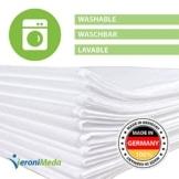 VERONIMEDA Massageliege Bezug (10 Stk) / Waschfaserlaken für Massage 4 JAHRE LEBENSDAUER/Massageliege Auflage (200 x 80cm) / Massagetisch Bezug (50g/m² Vlieslaken) Laken für Behandlungsliege - 1